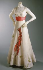 Famous Lobster dress, a collaboration with Salvador Dali. Photo by Philadelphia Museum of Art.
