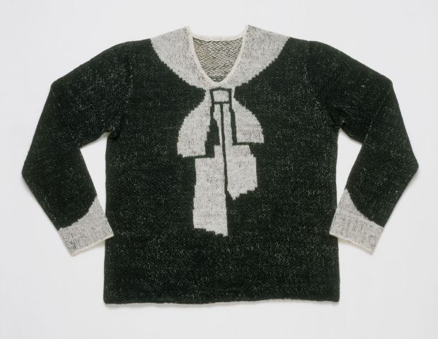 Famous bowknot sweater. Photo by Philadelphia Museum of Art.